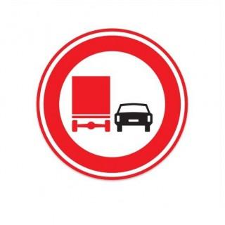 F03 Verbod voor vrachtauto's om motorvoertuigen in te halen verkeersbord sticker