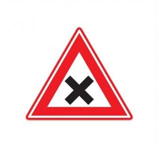 J08 Waarschuwing voor gevaarlijk kruispunt verkeersbord sticker