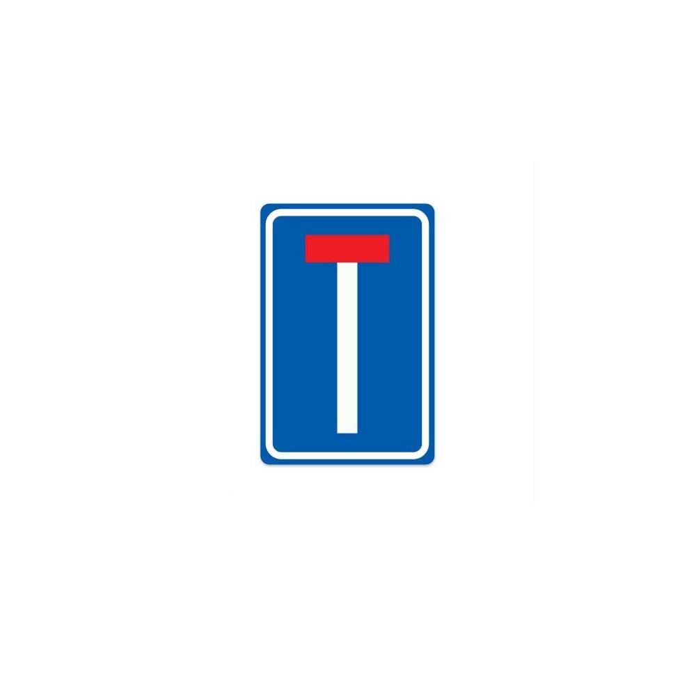L08 Doodlopende weg verkeersbord sticker