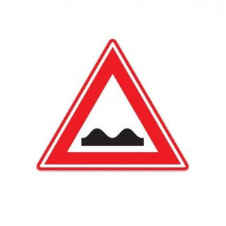 J01 Waarschuwing slecht wegdek verkeersbord sticker