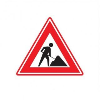 J16 Waarschuwing werk in uitvoering verkeersbord sticker