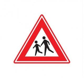 J21 Waarschuwing voor kinderen verkeersbord sticker