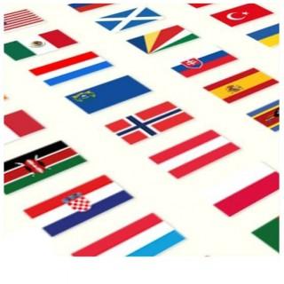 Vlaggen van alle landen mogelijk