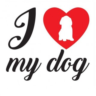 I love my dog honden sticker