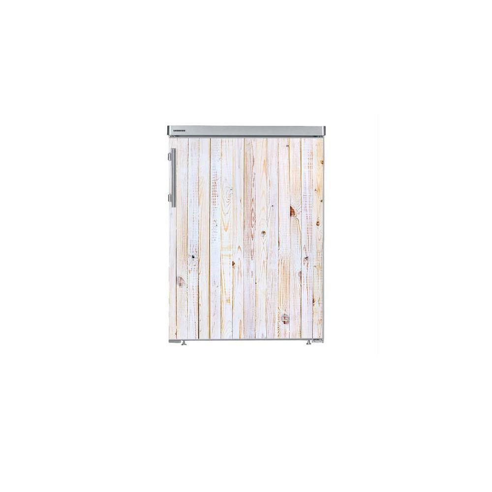 White Wash houten planken tafelmodel koelkast sticker