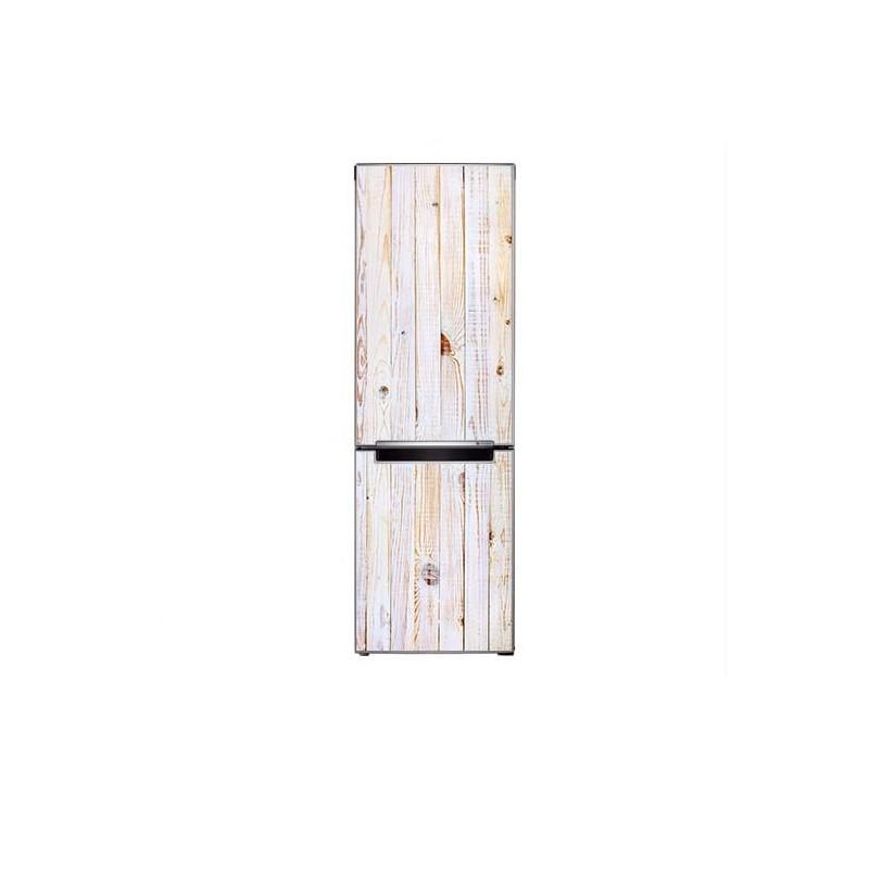 White Wash houten planken koel-vriescombinatie koelkast sticker