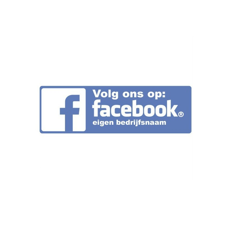 facebook sticker eigen bedrijfsnaam