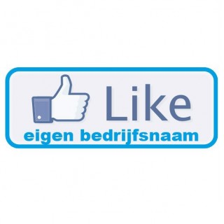 Eigen bedrijfsnaam Sticker like button Facebook