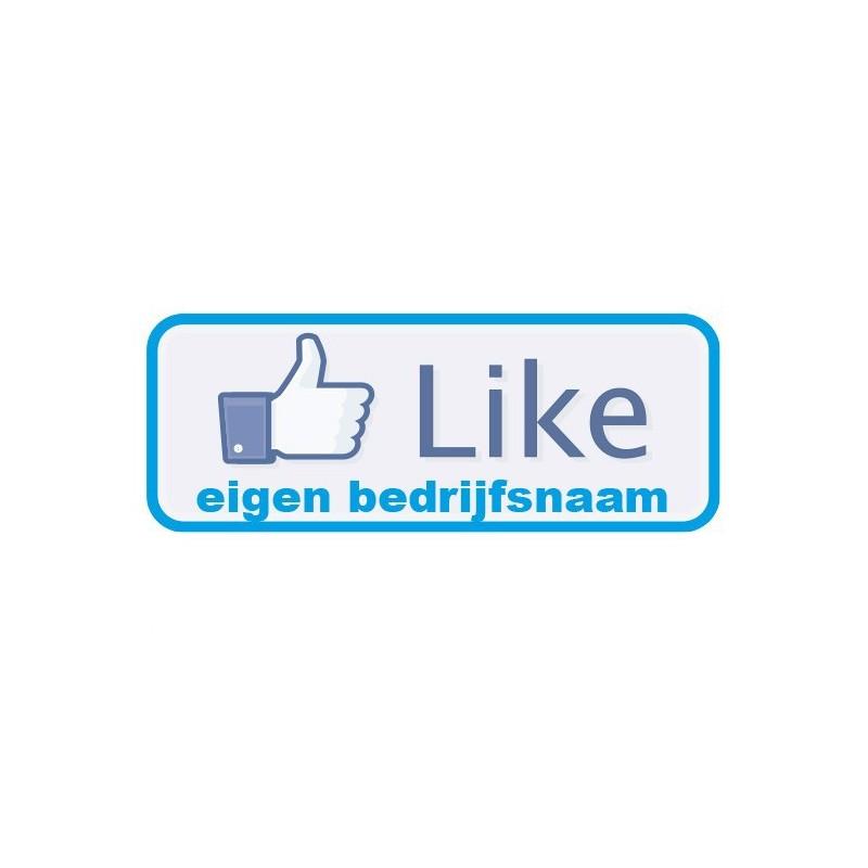 Eigen bedrijfsnaam Sticker like button Facebook