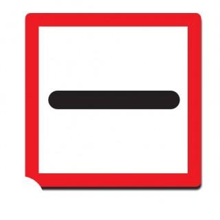 Verplichting vóór het bord stil te houden sticker