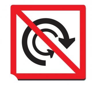 Verboden te keren sticker