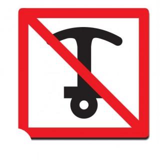 Verboden te ankeren sticker