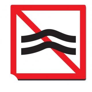 Verboden hinderlijke waterbeweging te veroorzaken sticker