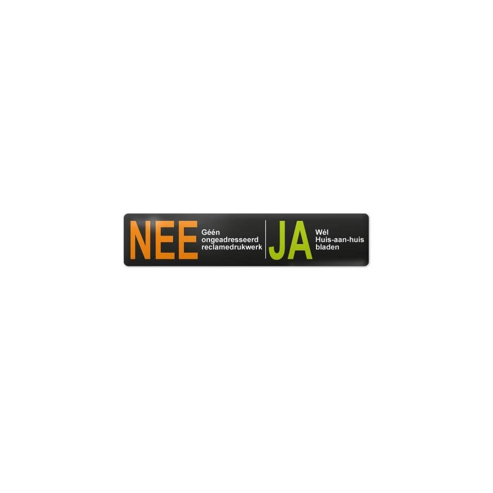 3D Nee Ja sticker brievenbus