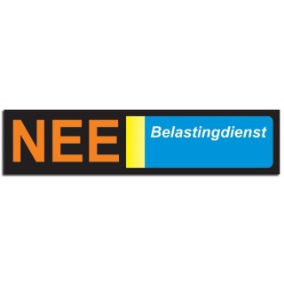 Nee Sticker brievenbus 4 nee belastingdienst foto sticker