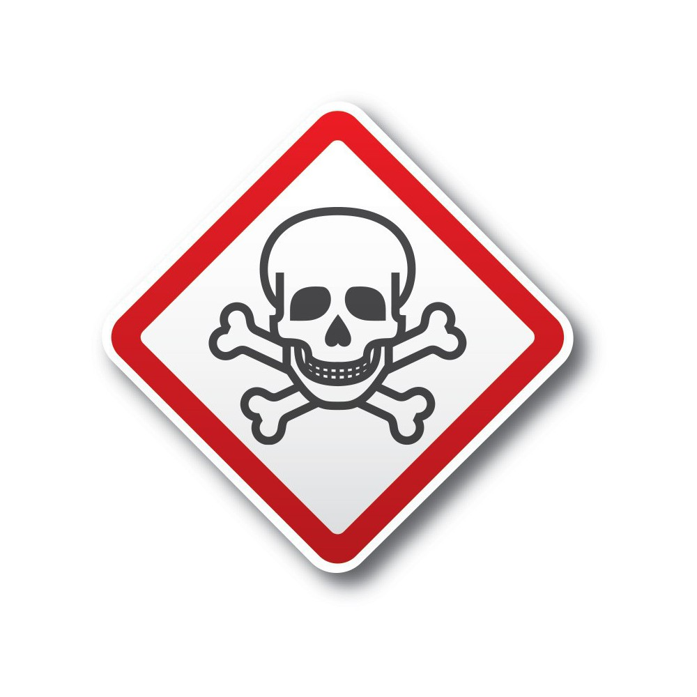 Giftige stoffen Pictogramsticker GHS