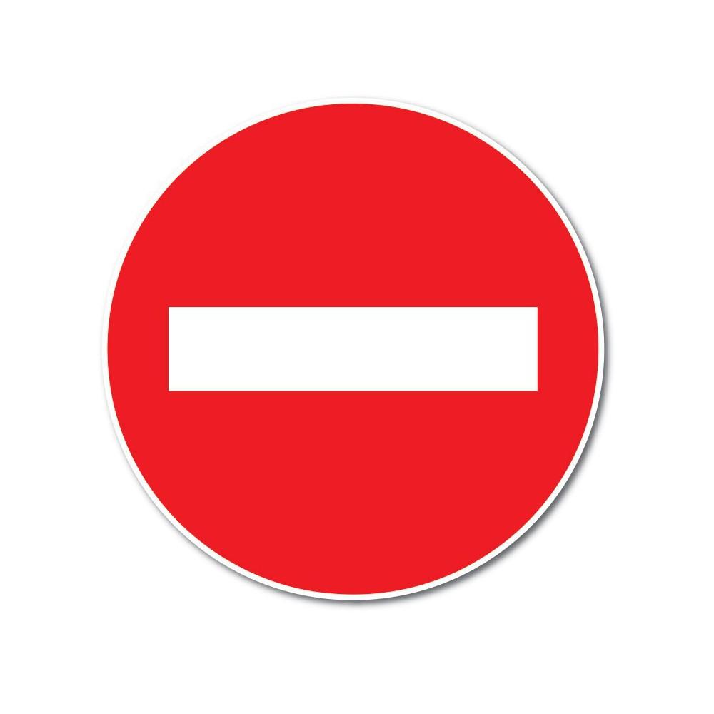 Verboden in te rijden Sticker