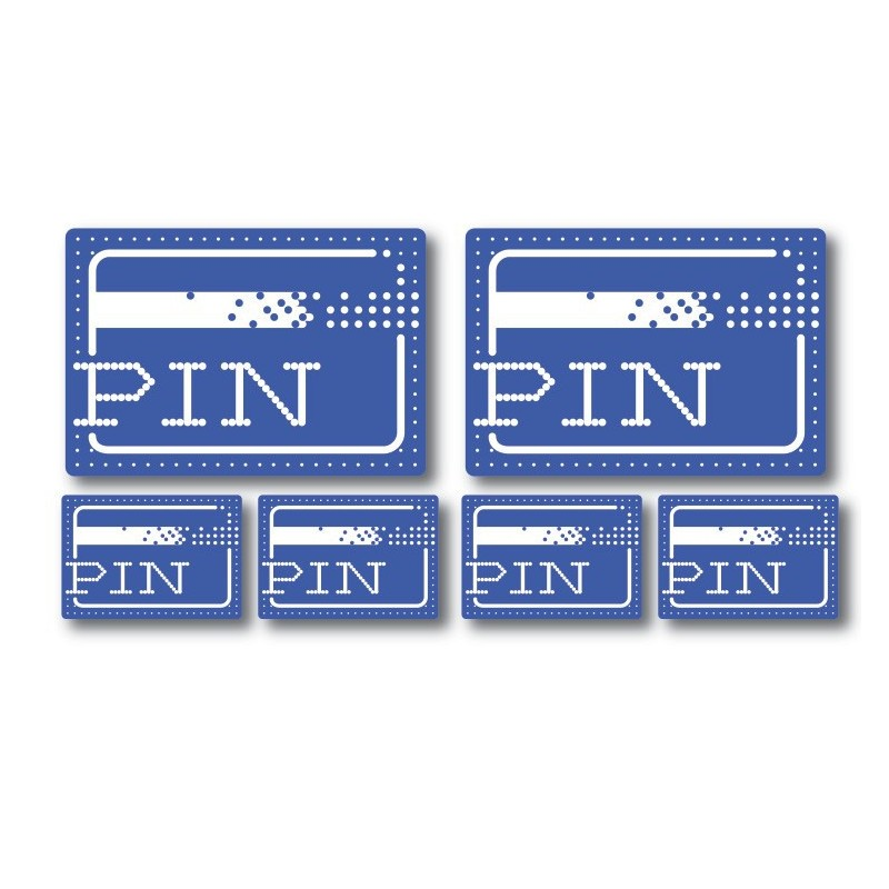 Pin stickers