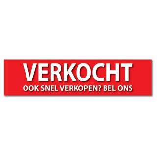 Makelaardij sticker te koop ook snel verkopen
