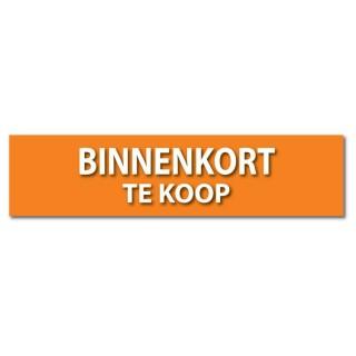Makelaardij sticker Binnenkort te koop