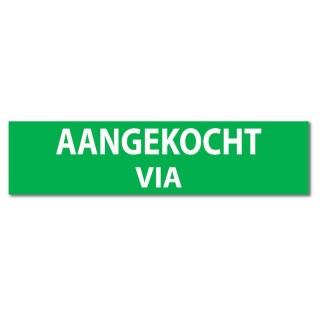 Makelaardij sticker Aangekocht via