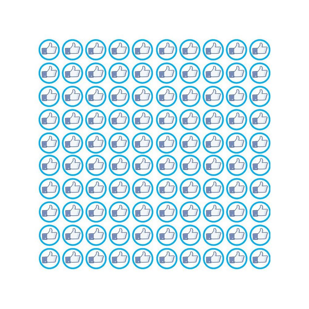 Facebook set van 100 stuks Rond Like of Dislike Stickers