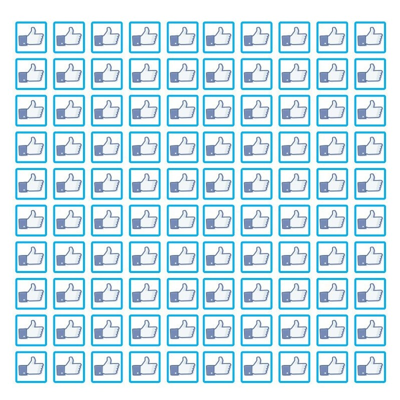 Facebook set van 100 stuks Like of Dislike Stickers