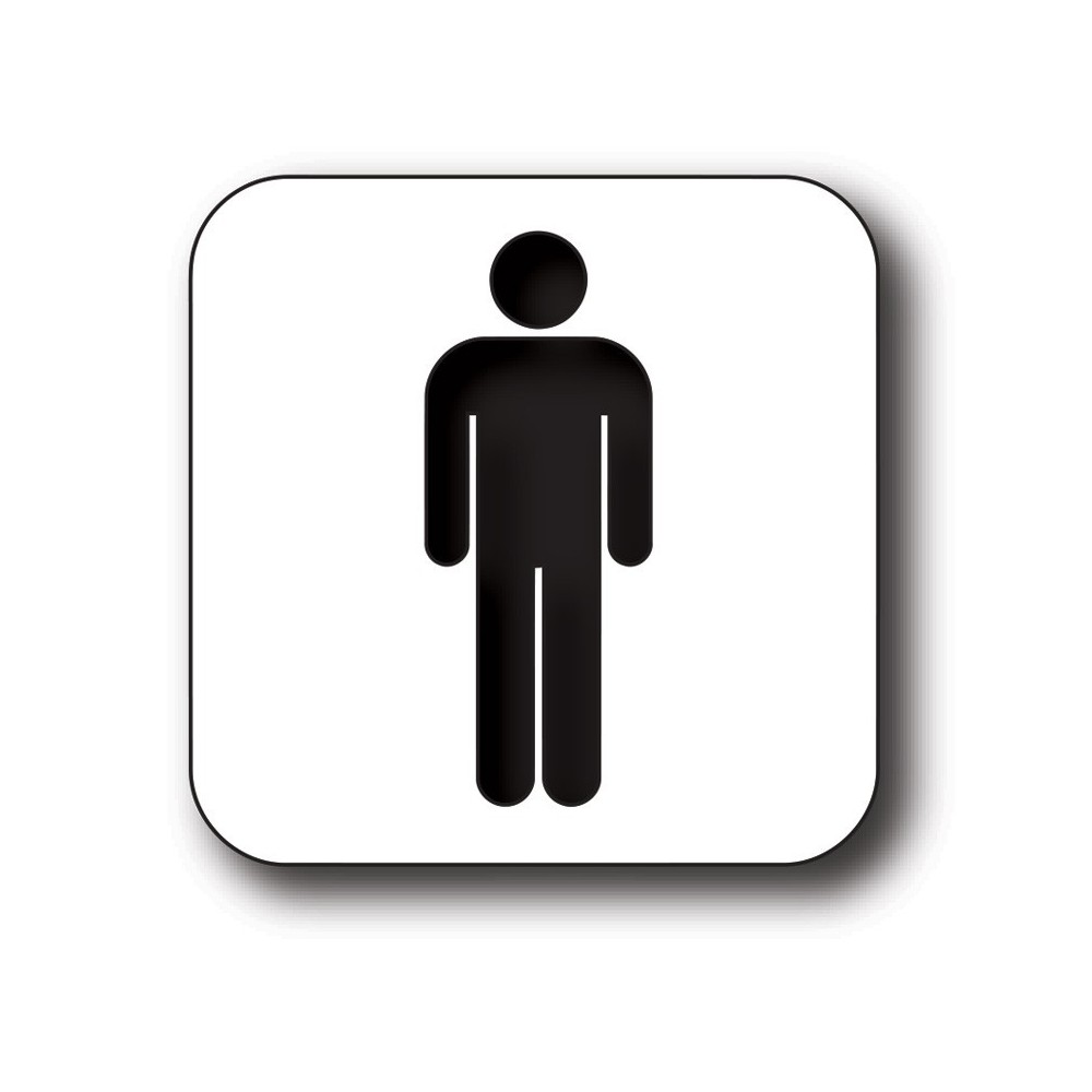 Man toilet sticker