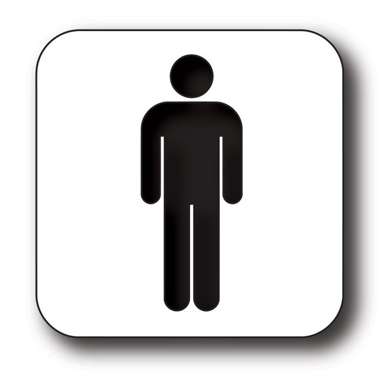 Man toilet sticker
