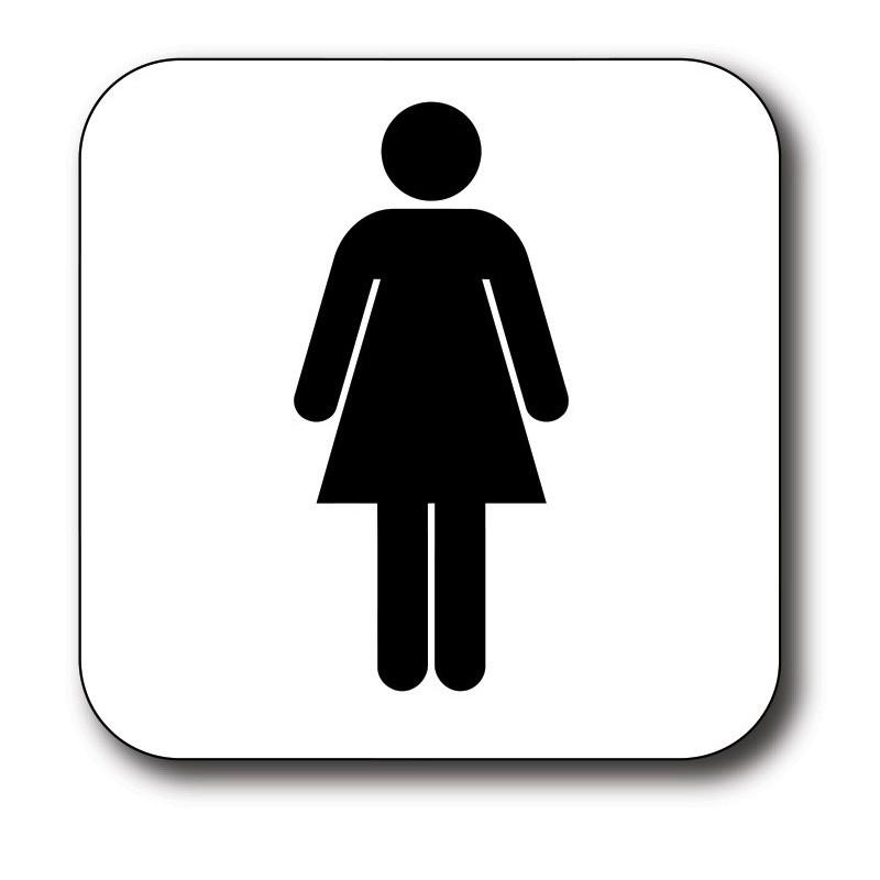 Vrouw toilet sticker