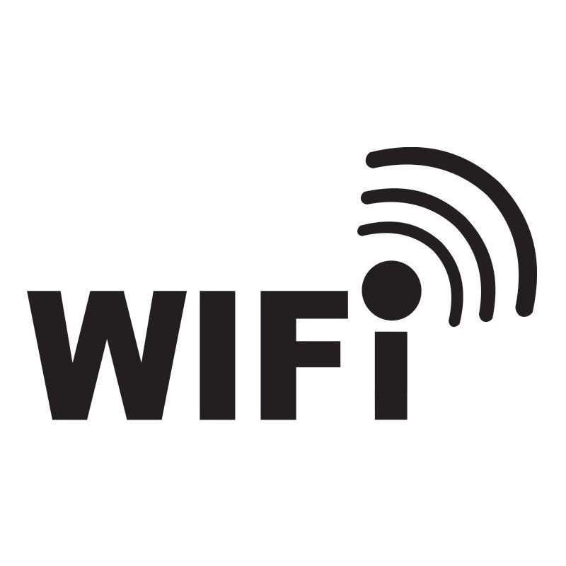Wifi signaal type 3 sticker Logo uitgesneden