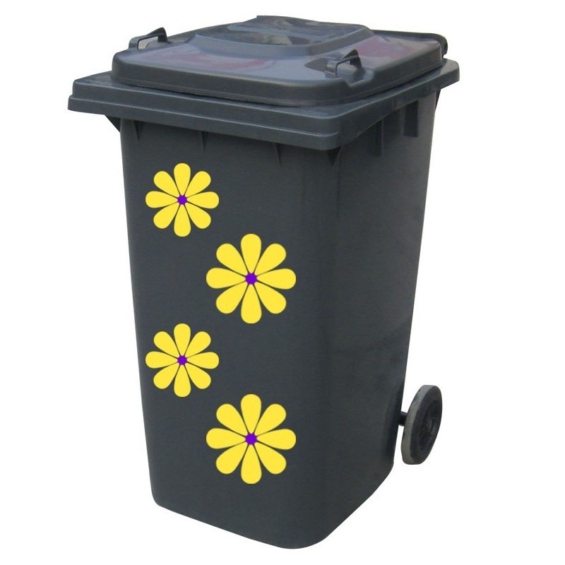 Kliko sticker bloem geel