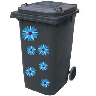 Kliko sticker bloem blauw 2