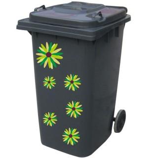Kliko sticker bloem groen 2