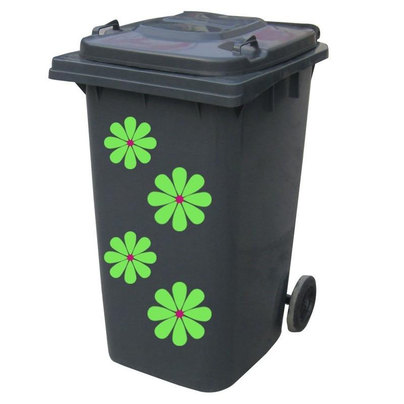 Kliko sticker bloem groen