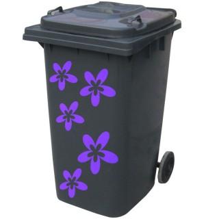 Kliko sticker bloem paars