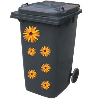 Kliko sticker bloem oranje