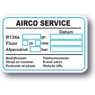 Airco Service Onderhoud stickers