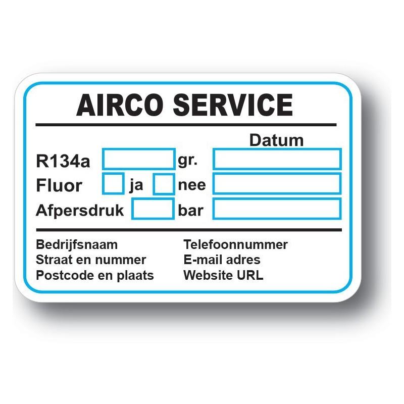 Airco Service Onderhoud stickers autosticker