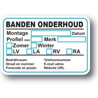 Banden Service Onderhoud stickers
