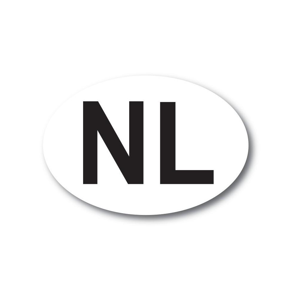 NL sticker wit zwart ORIGINEEL