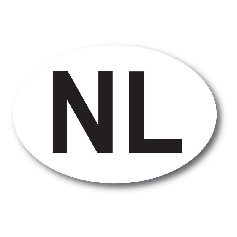 nl sticker wit zwart ORIGINEEL foto