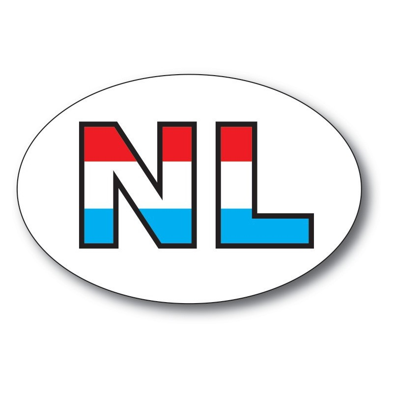 NL sticker Letters Rood Wit Blauw
