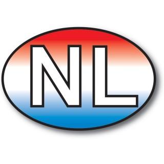 NL sticker Achtergrond NL Vlag