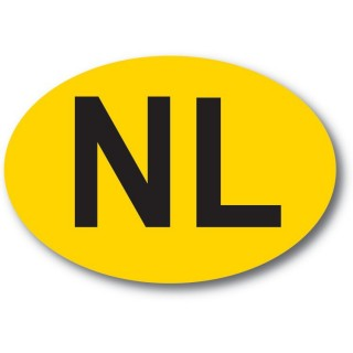nl sticker Geel Zwart