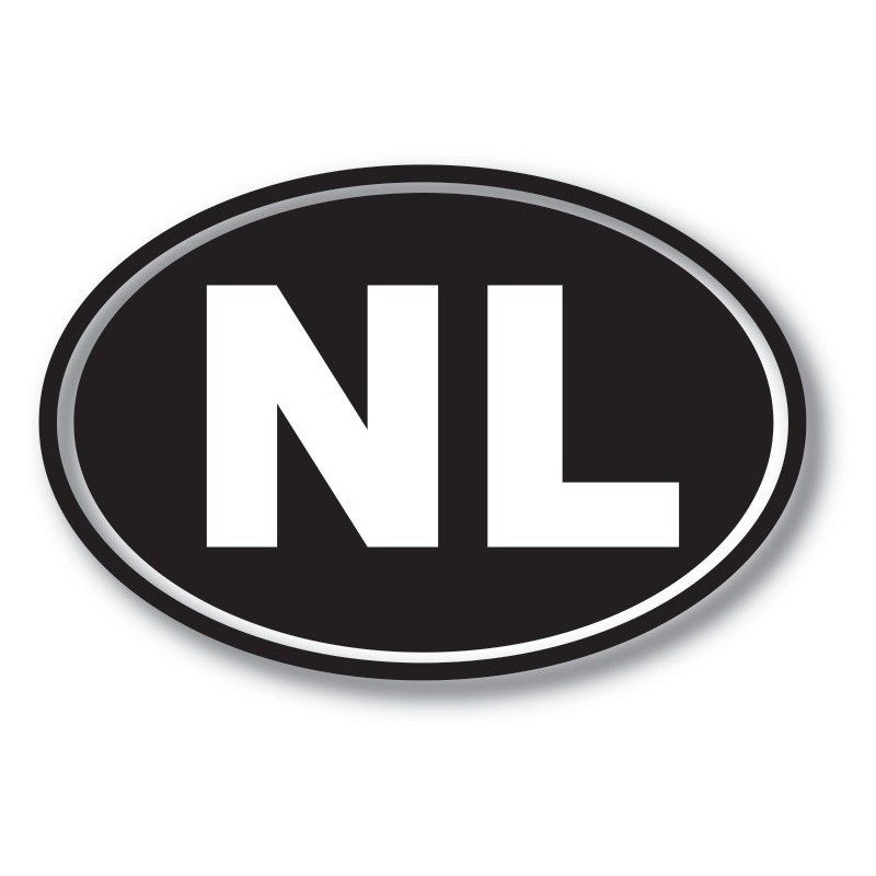 NL sticker achtergrond zwart wit