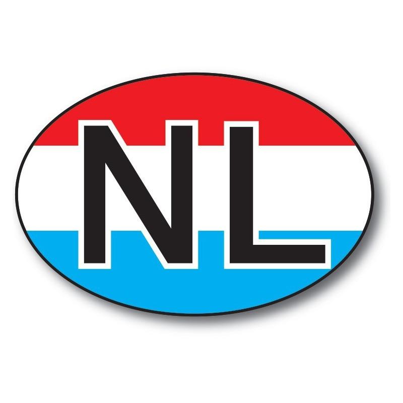 nl sticker achtergrond vlag NL letters zwart wit foto