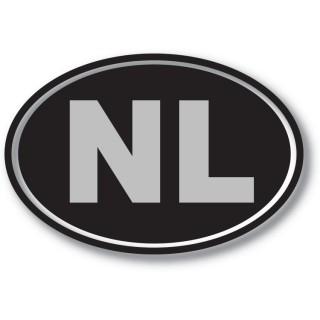 Luxe NL sticker Zilver/Zwart