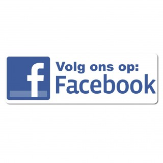 Facebook Sticker volg ons type 3