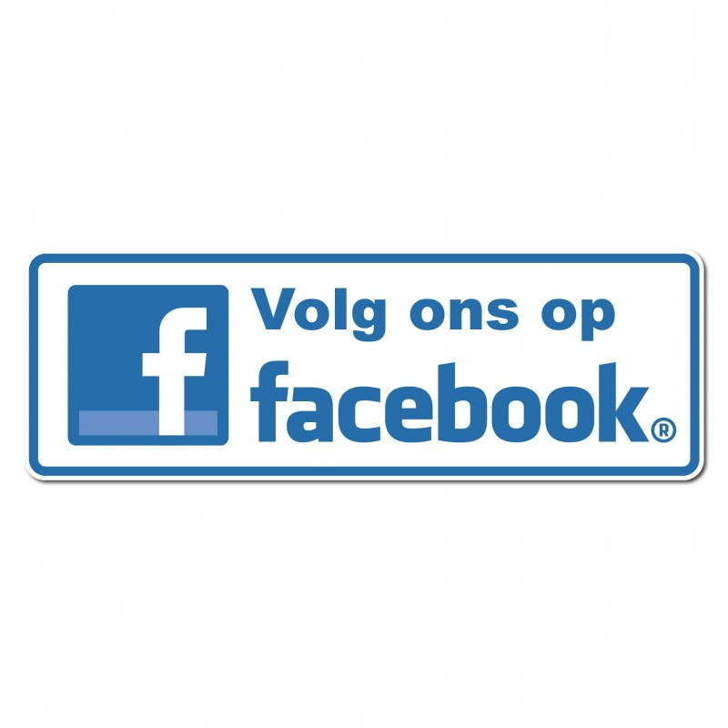 Facebook Sticker volg ons type 2 foto sticker